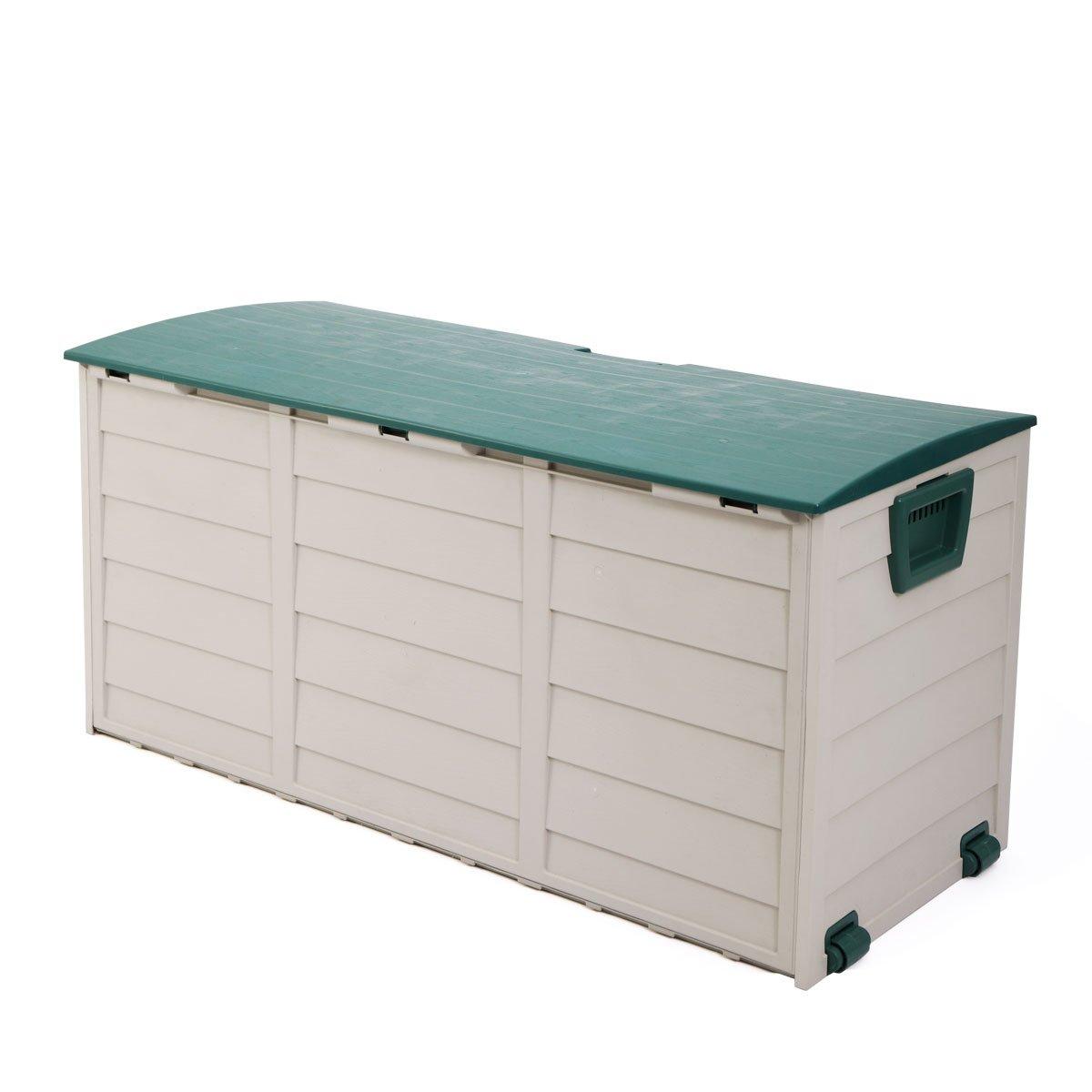 Tobbi Outdoor Patio Deck Storage Box Garage Shed Backyard Garden Tool Box Container