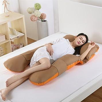 8d7d900b3 Almohada De Embarazo Algodón En Forma De U Maternidad Almohada  Multifuncional Lechón Cintura Lado Lado Para Dormir Almohada De  Lactancia