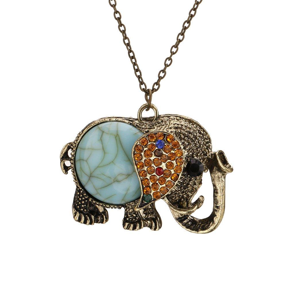Retro Vintage Elephant Pendant...