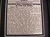 11x14 Framed & Matted 1967 Ice Bowl Packers