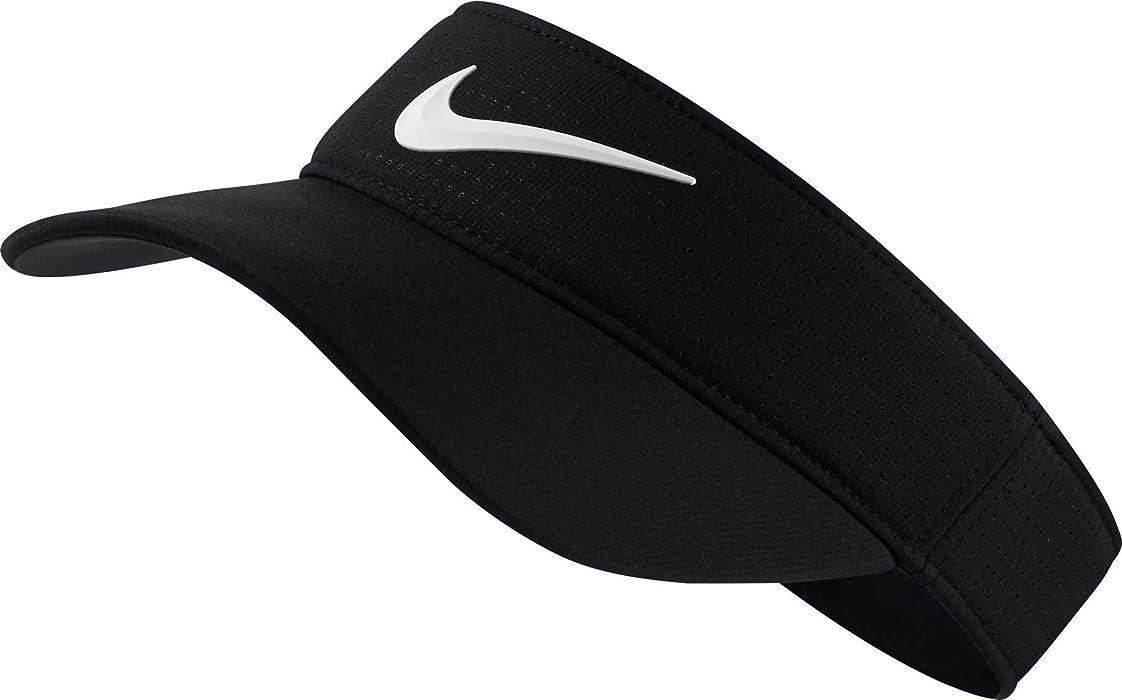 f882c493 Amazon.com : Nike Women's Aerobill Visor Hat, Black/Anthracite/White ...