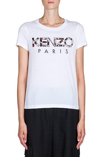f38b43a8e Kenzo Women's F862TS72199301 White Cotton T-Shirt: Amazon.co.uk: Clothing