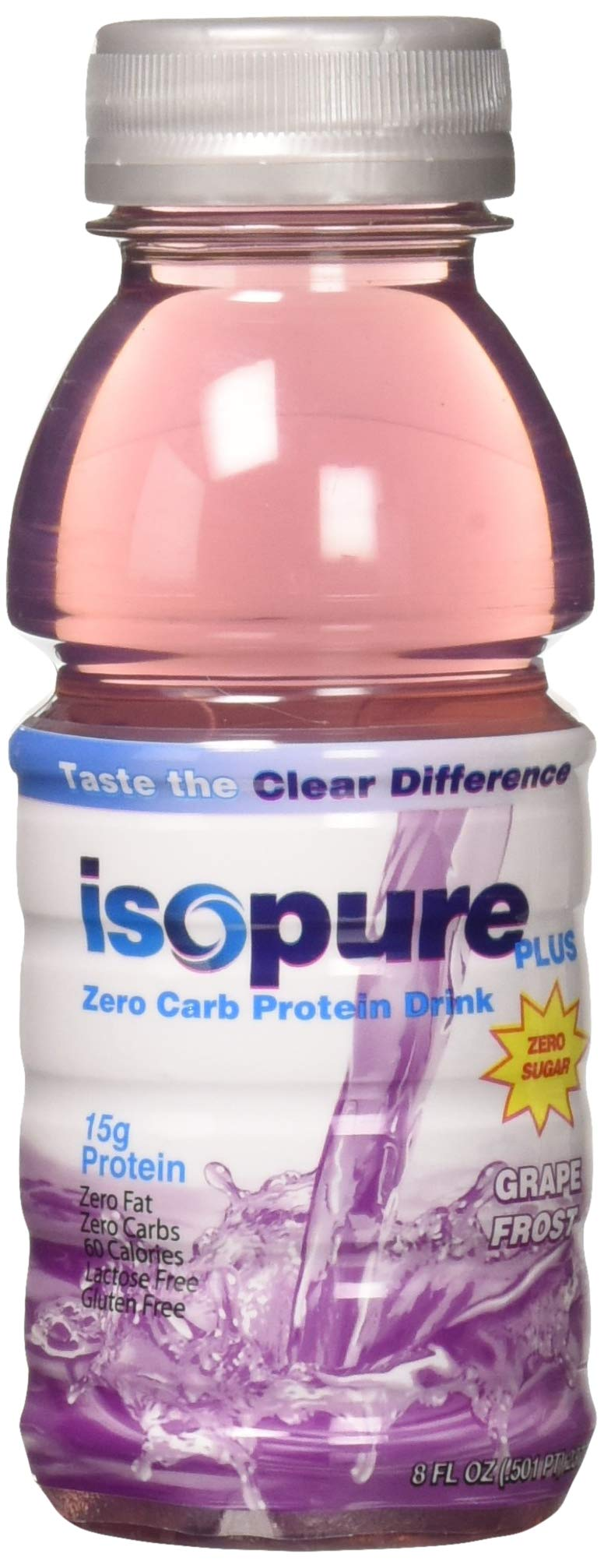 Isopure Plus 0 Carb - Zero Carb Protein Drink - Grape Frost, 6 Count by Isopure