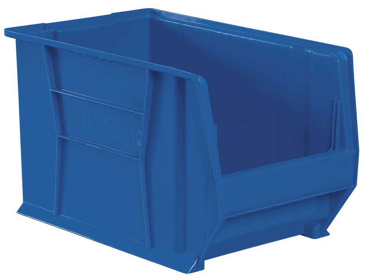 Akro-Mils 30282 20-Inch D by 12-Inch W by 12-Inch H Super Size Plastic Stacking Storage Akro Bin, Blue, Case of 2