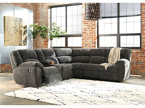 Benchcraft 6190149 Timpson Right-Arm Facing Reclining Loveseat, Slate