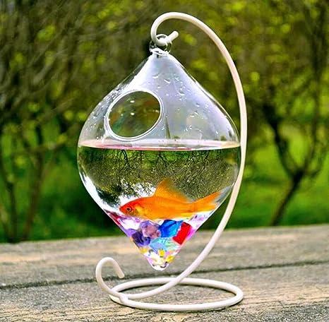 Pequeño jarrón de cristal Creative pescado tanque Acuario Pecera Decoración para Bodas o en el Bar