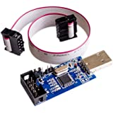 Qunqi 5V / 3.3V USBASP Programmer Adapter w 10 Pin Cable ATMEGA8 ATMEGA128 for Arduino