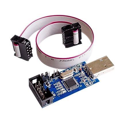 Qunqi 5V / 3 3V USBASP Programmer Adapter with 10 Pin Cable ATMEGA8  ATMEGA128 for Arduino