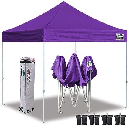 half off c5842 84871 Eurmax 10'x10' Ez Pop Up Canopy Tent Commercial Instant Shelter Heavy Duty  Roller Bag,Bonus 4 Sand Weights Bags(Purple)