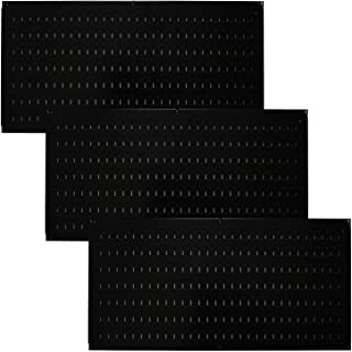 product image for Wall Control Pegboard Value Pack - (3) Pack of Wall Control 16-Inch Tall x 32-Inch Wide Horizontal Black Metal Pegboards for Wall Home & Garage Tool Storage Organization (Black Pegboard)