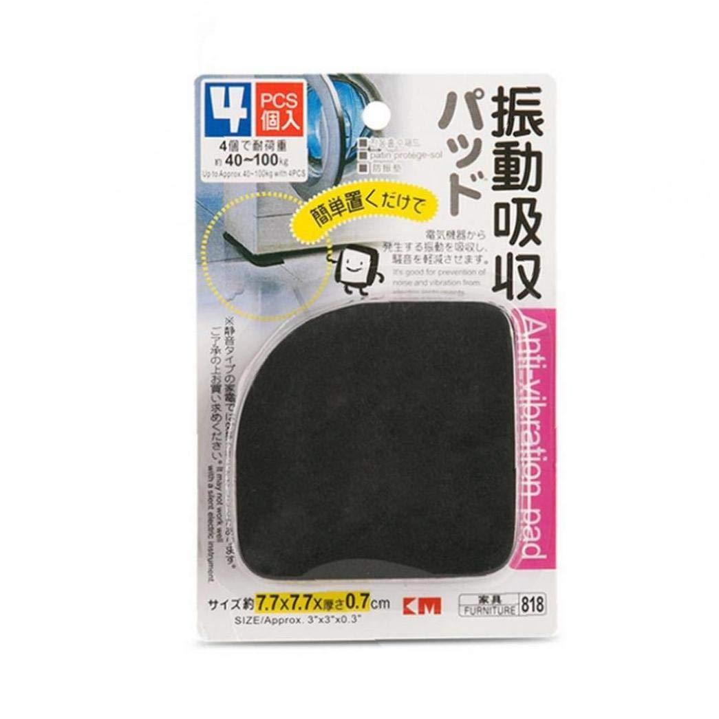 Angoter 4 Frigor/ífico Lavadora Pad Multifuncional Anti Vibraci/ón Alfombra Antideslizante Mats Nevera Lavadora Pads