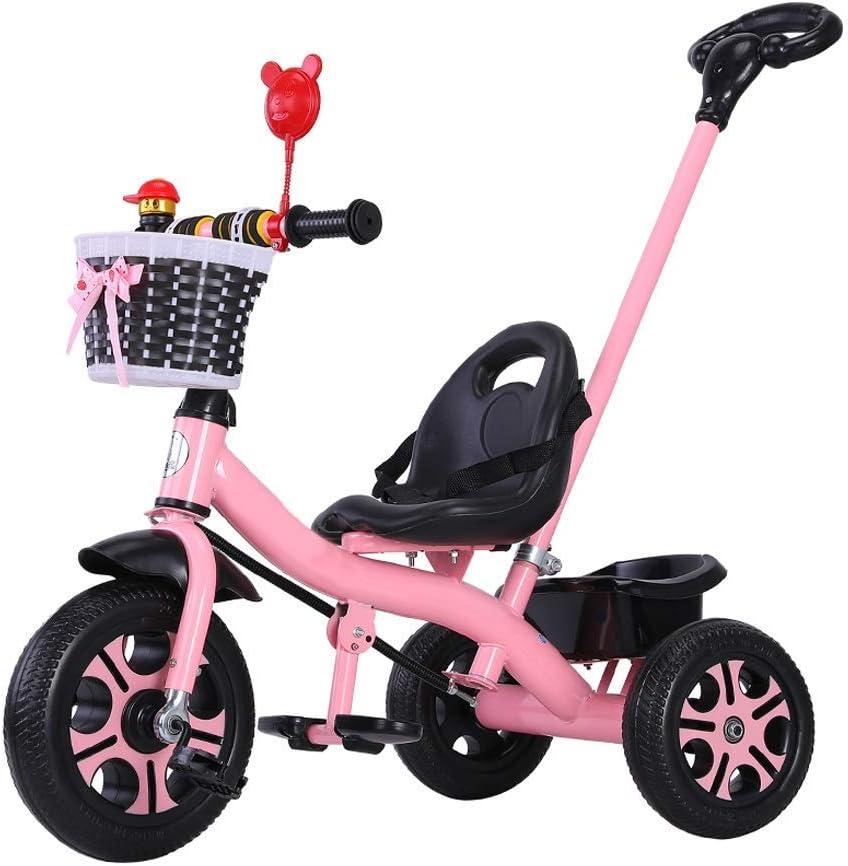 XMIMI Triciclo para niños   Triciclo para niños   Triciclo para niños   2 en 1 Mejorado   Los niños montan en Triciclo con Canasta   Púrpura   Blanco   Verde   Azul   Rosa   85X58X105CM