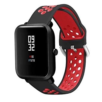 Amazon.com: AGUIguo Smart Watch Band with Stomata Double ...