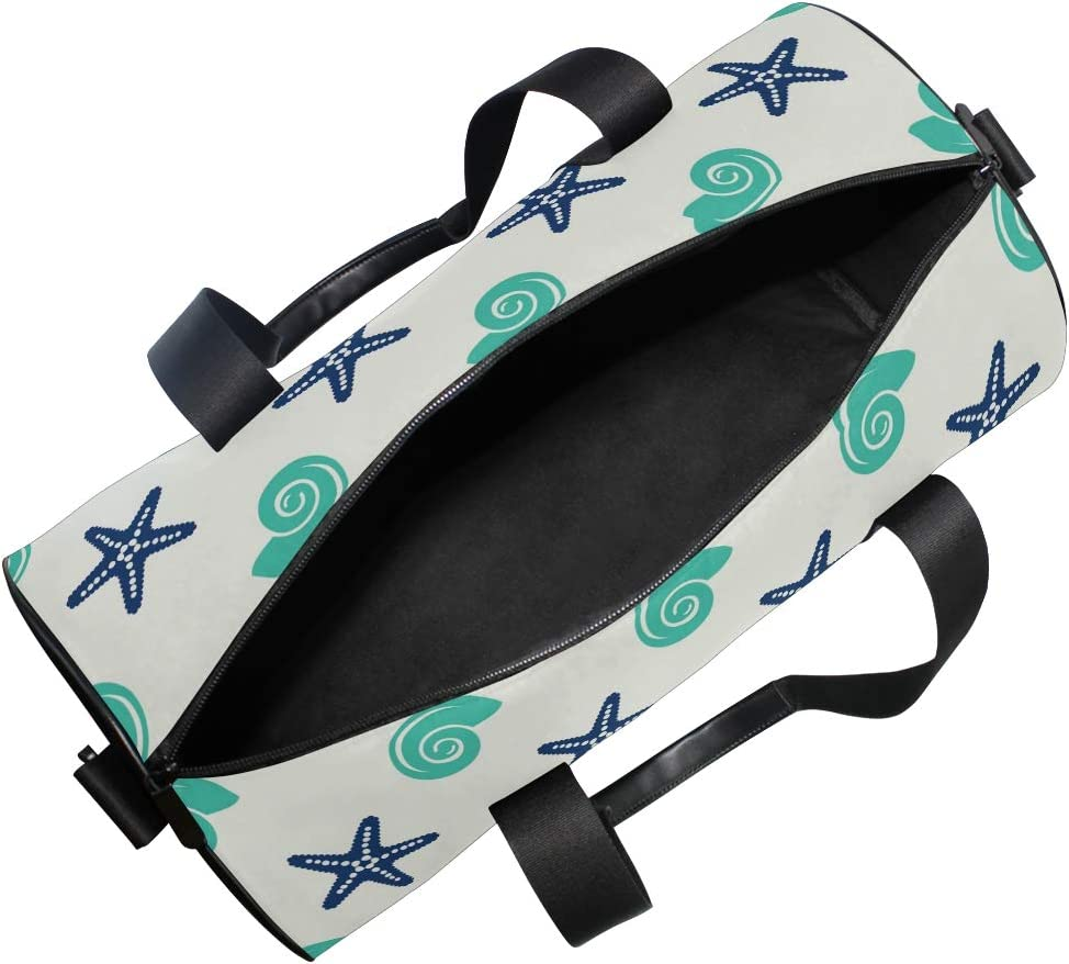 MALPLENA Starfish And Conch Drum gym duffel bag women Travel Bag