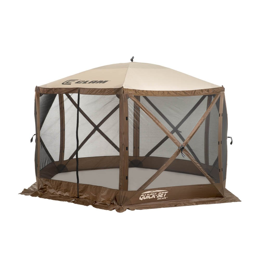 Clam Corporation 9879 Quick-Set Escape Shelter, 140 x 140-Inch, Brown/Beige by Clam Corporation