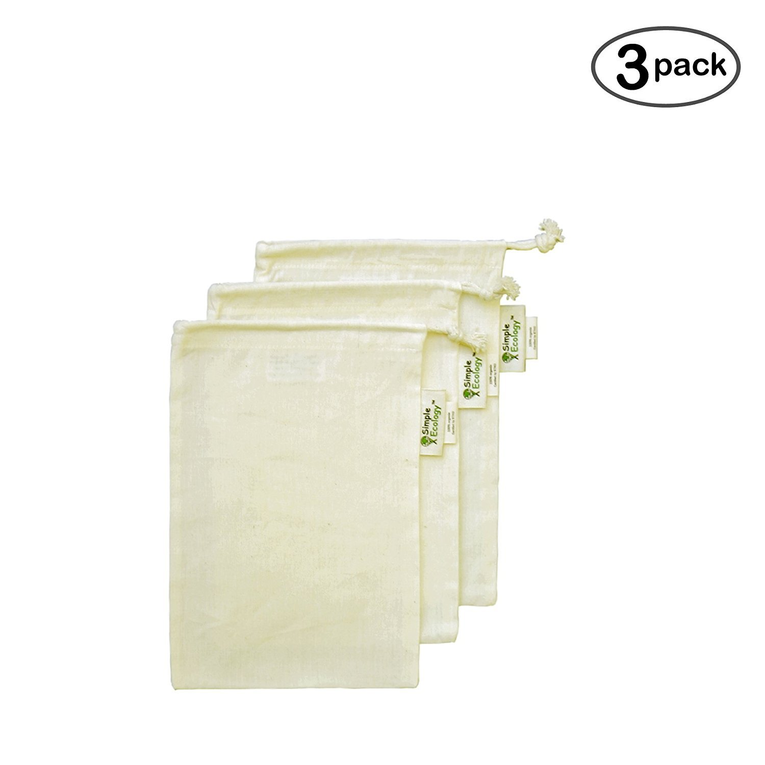 Simple Ecology Organic Cotton Muslin Produce Bag Large by Simple Ecology B004UJ0TLC L (12