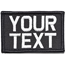 Customizable Text Patch - 2x3 Morale Patch - Black