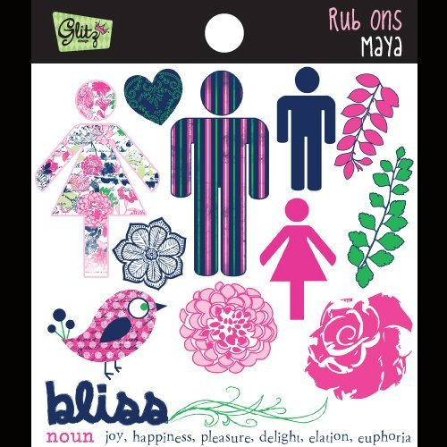 Glitz Design Rub - Maya Rub-Ons