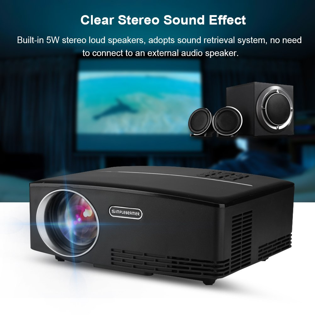 Amazon.com: Wireless Video Projector, Portable 1800 Lumens LED Full ...