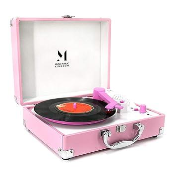 Tocadiscos de Discos con Mini Maleta portátil para Discos de ...