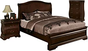 William's Home Furnishing CM7682EK-HB Northville E. King Bed Headboard, Brown