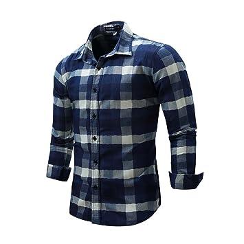 Mena Uk Ocio Hombre Camisa Vaquera Impresión Camisa A Cuadros Camisa ...