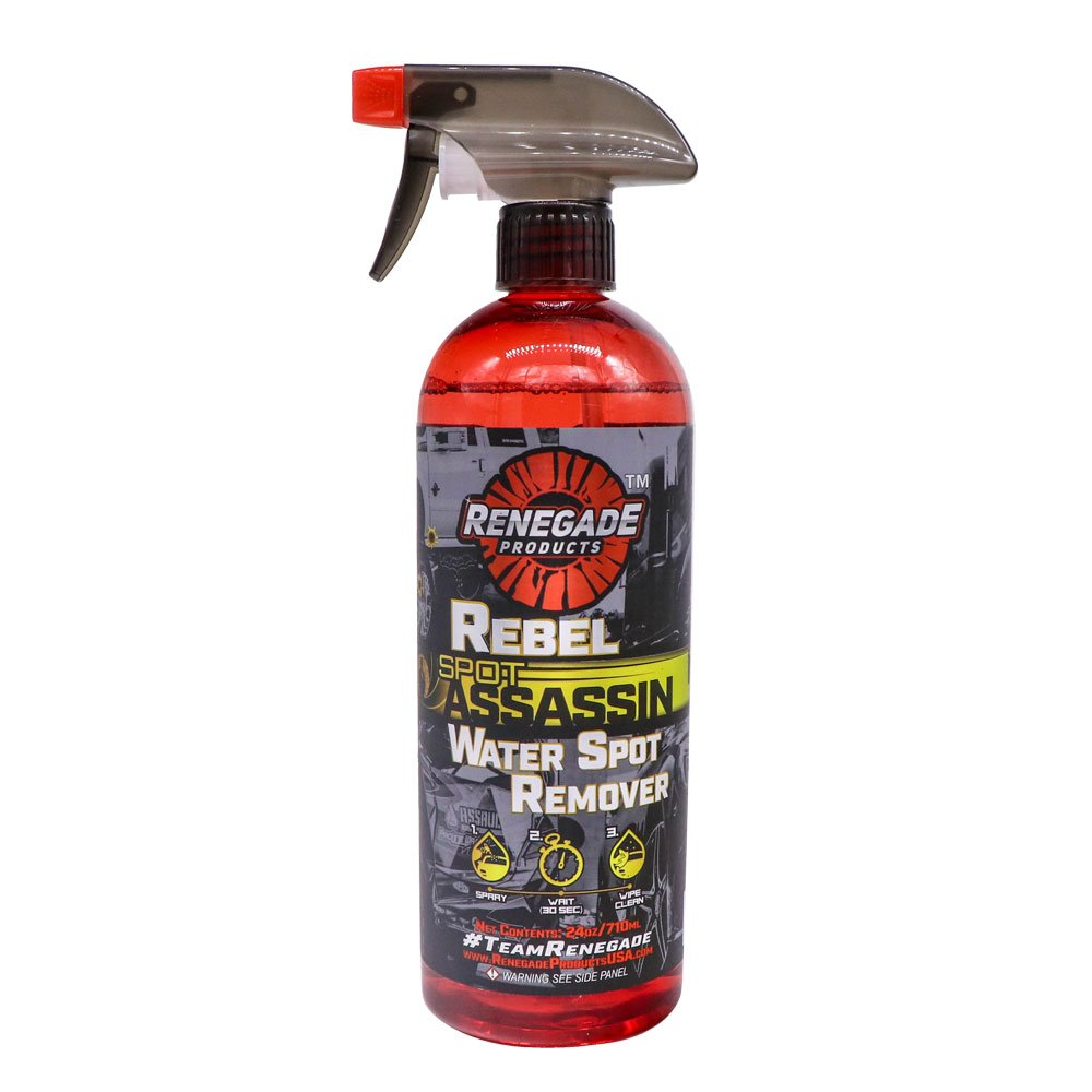 Renegade Products Water Spot Remover Safe on Polished Aluminum Non Acidic Base 24 Oz Bottle Renegade Products USA