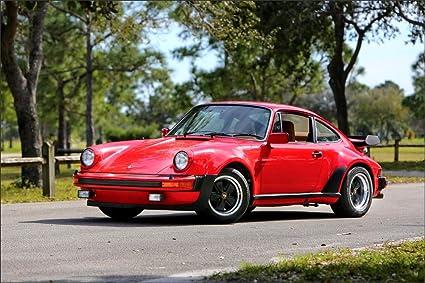 Innerwallz Retro 1977-79 Porsche 911 Turbo 3.3 Coup (930) Red Metallic Cars