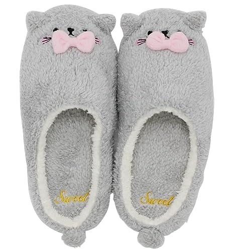 4990ffd081 Pantofole di peluche da donna, ciabatte invernali da donna, Pantofole da  Donna Molle Piatte