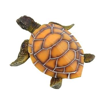 TOOGOO Decoracion de adornos de acuario Tortuga artificial para pecera Tortuga de resina hecha por el hombre Decoracion de paisajismo Accesorios para ...