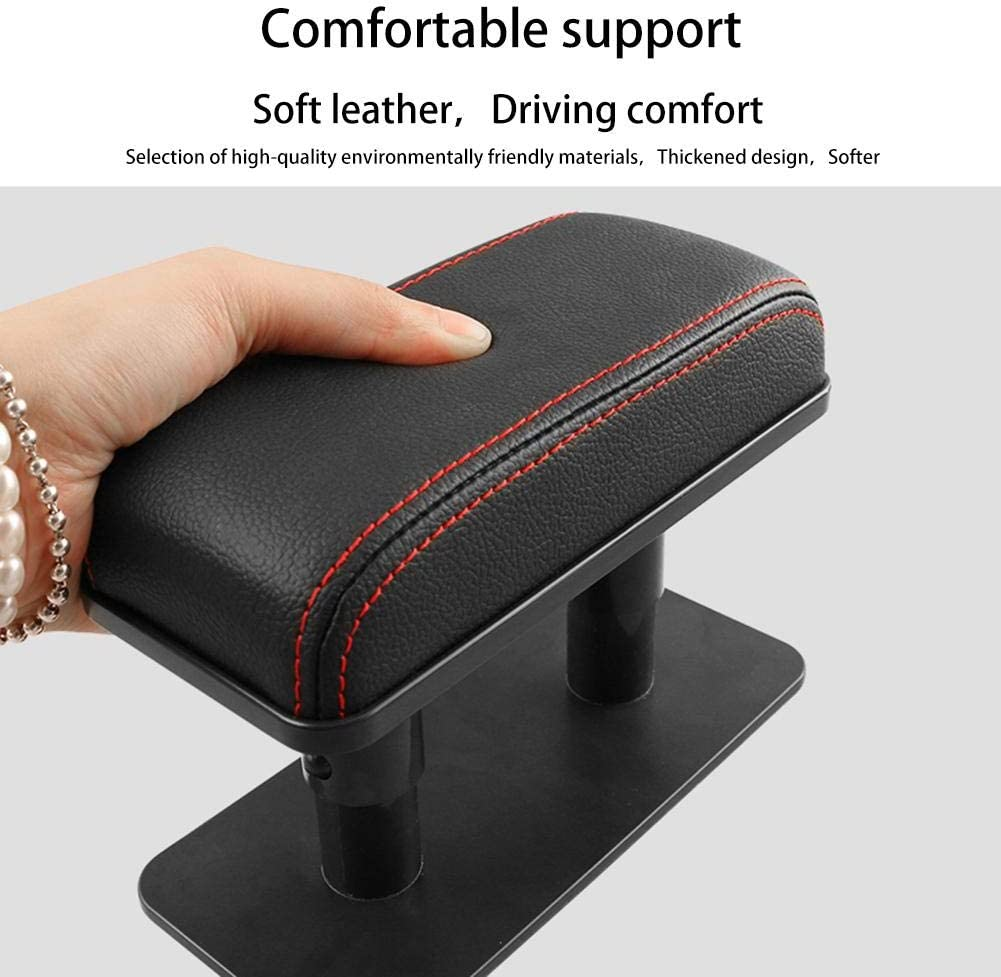 hinffinity Car Armrest Left Elbow Bracket Adjustable Anti-fatigue Door Armrest Heightening Pad Automobile Arm Support For Car Motor Auto Vehicle