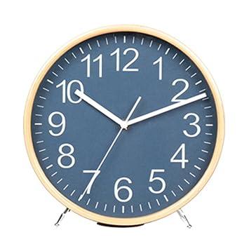 TIAMO Home Store Reloj Taiwán Reloj Mudo Salón Simple De Madera Sólida Escritorio Relojes Y Relojes ...