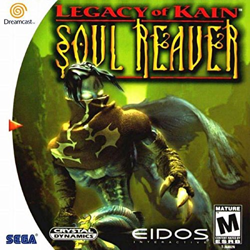 Printed Manual Color (Legacy of Kain: Soul Reaver (Sega Dreamcast) - Reproduction Video Game Disc with Full Color Printed Cover, Insert and Manual and Disc Label Print - Region Free - Works in all Dreamcast Consoles.)