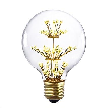 Bombillas de diseño clásico Edison E26 E27 2200 K de Juneslife, luz blanca cálida, ...
