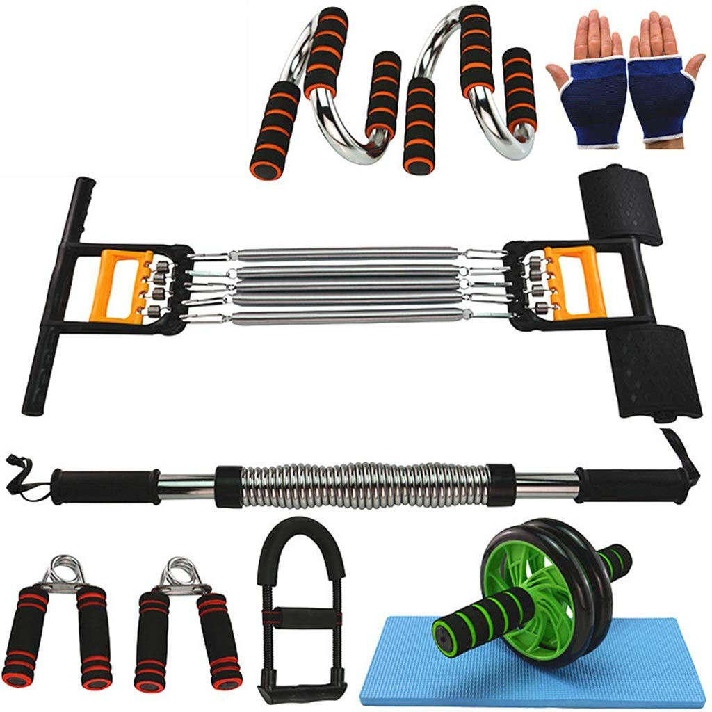Zhiniu Arm Krafttraining, Fitnessgeräte Anzug Indoor Gewicht Verlieren Bauch Griff Haushalt Pull Rod Sportartikel