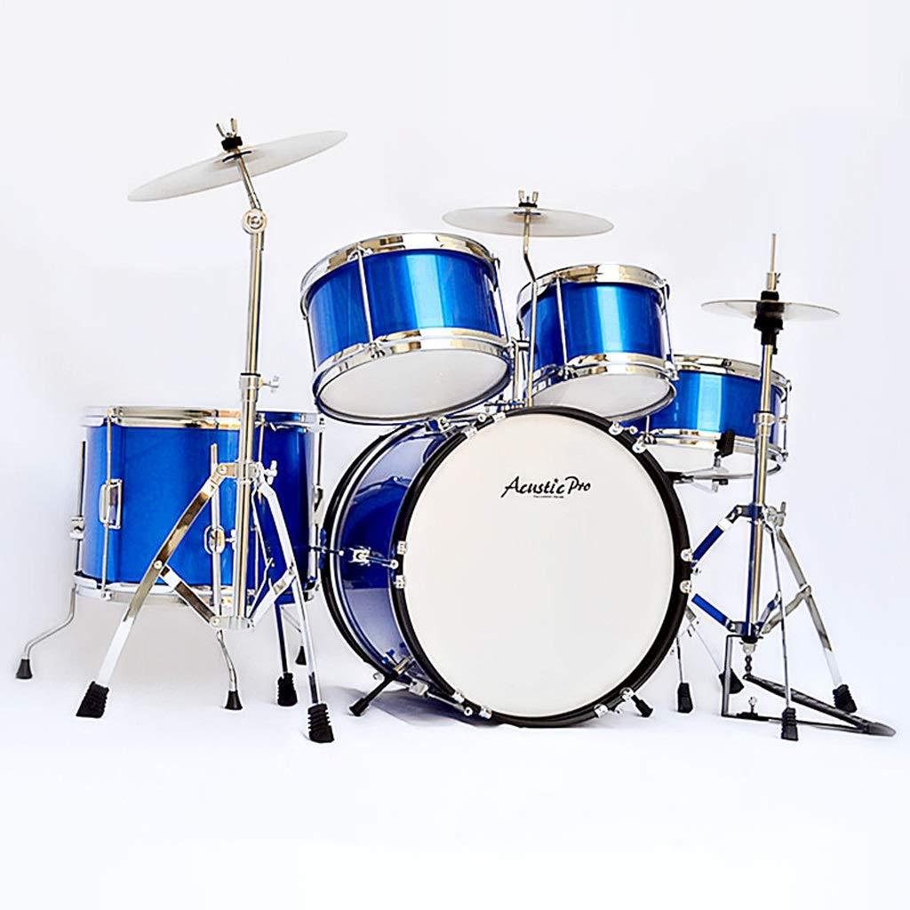 LIPENG-TOY Kindertrommeln Anfänger Musikinstrumente Beat Drums Jungen Babyspielzeug 1-2-3-6-10 Jahre alt (Farbe : Blau, Stil : C)
