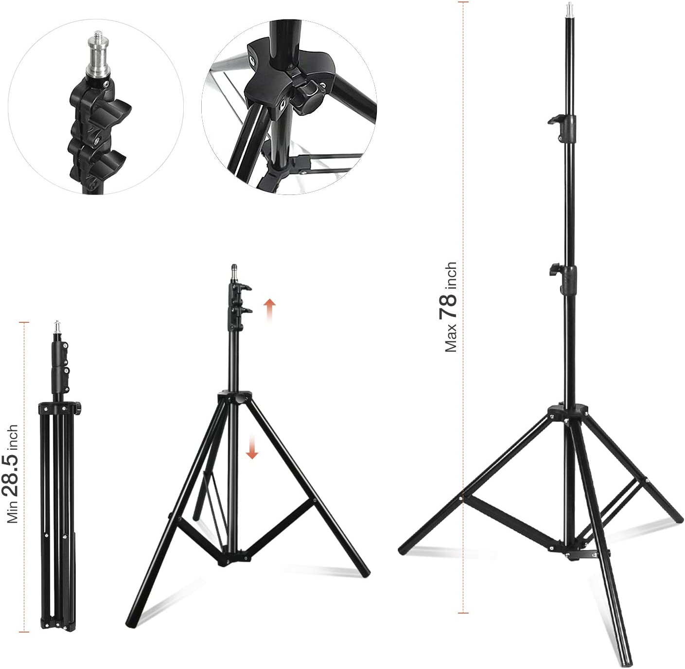 800W Output Light for Video Camera Photography Photo Portrait Studio Julius Studio 20 x 28 inch Soft Box with Bulb Socket Lighting Kit JSAG379