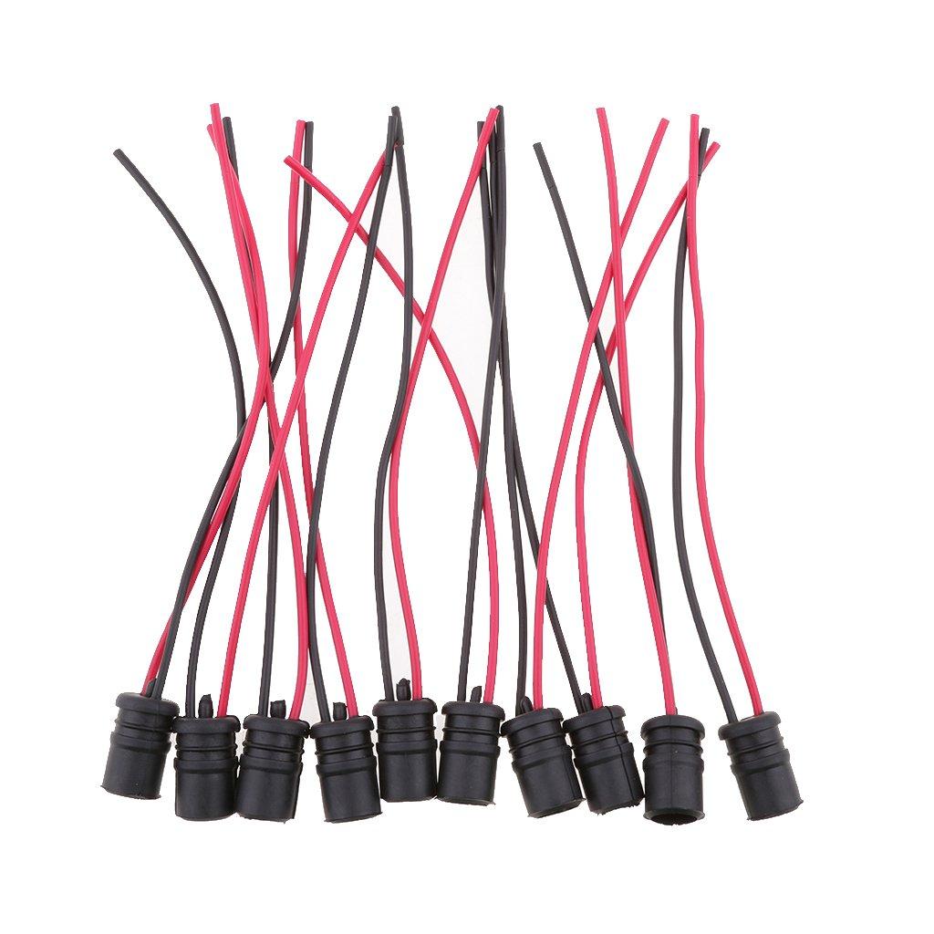 Sharplace 10 Stück Lampenfassung - T10 Fassungen Lampe Kabel Stecker ...