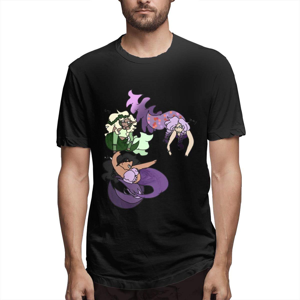 VIIHAHN Man Round Neck Short Sleeve T-Shirt Practical Aphmau Print 100/% Cotton T-Shirts