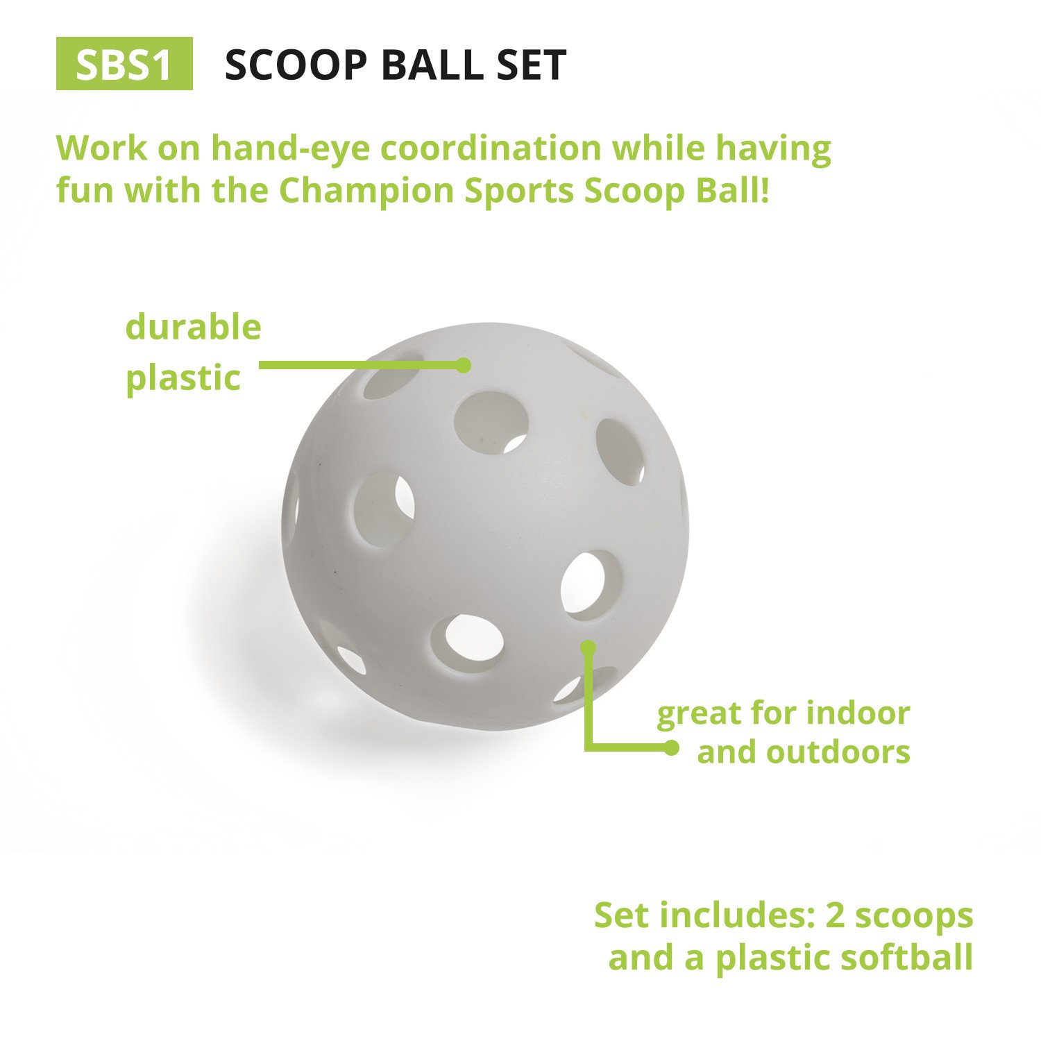 Champion Sports Scoop Ball Game: Classic Kids Outdoor Party Gear for Lawn, Camping & Beach by Champion Sports (Image #5)