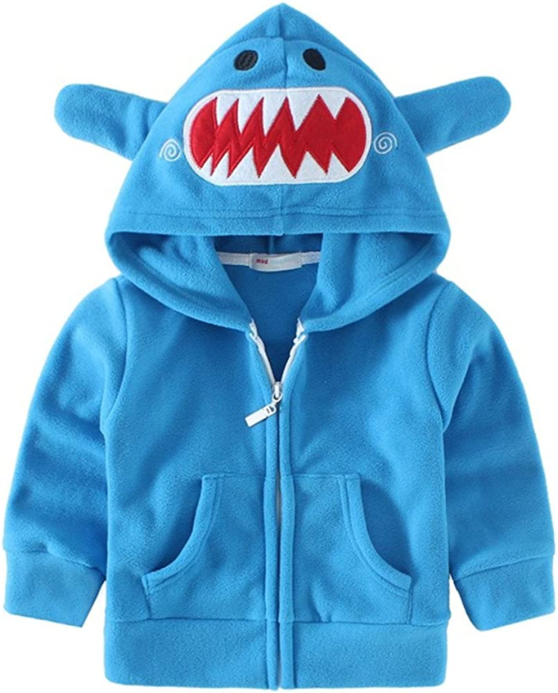 Mud Kingdom Cute Little Boy Fleece Jacket with Hood