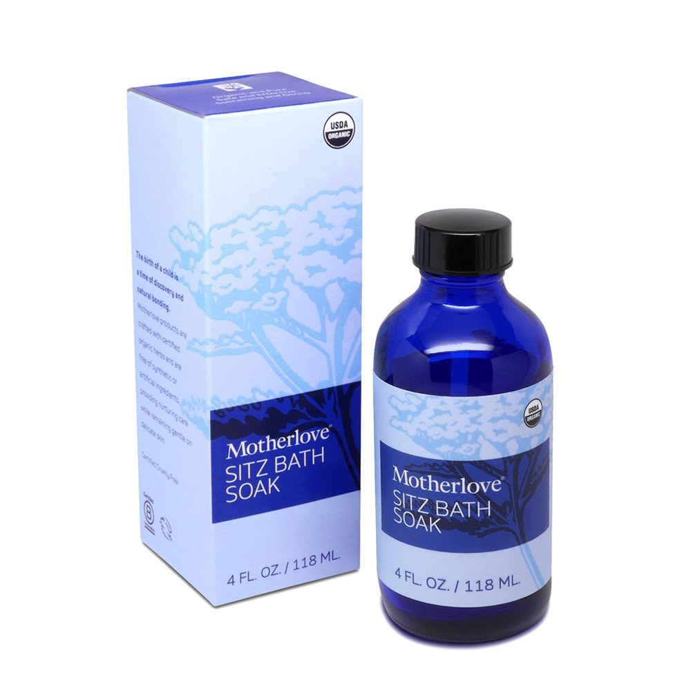 Motherlove Organic Sitz Bath Soak for Postpartum Discomfort, 4 oz Bottle