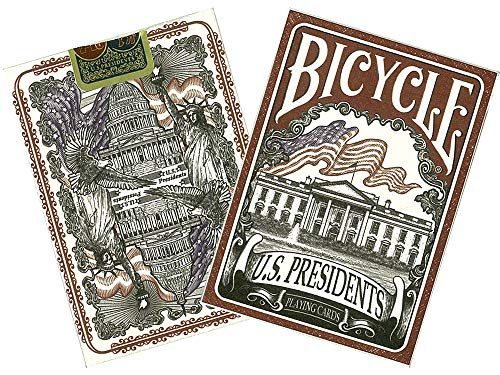 Bicycle US Presidents Poker Size Standard Index Playing Cards (Colors may vary) ()