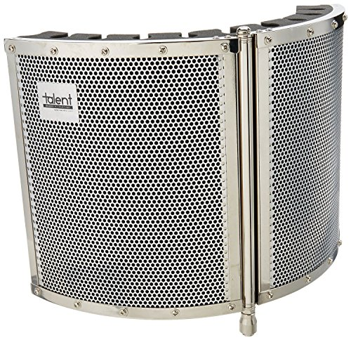 Talent VB1 Folding Portable Vocal Isolation Booth, Silver