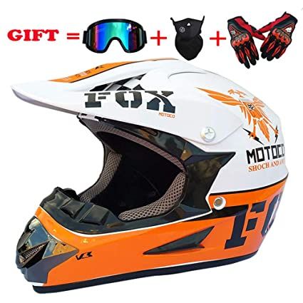 Ltongx Adultos MX Casco Motocross Casco Scooter ATV Casco Fuera De Carretera Gafas De Distribución De