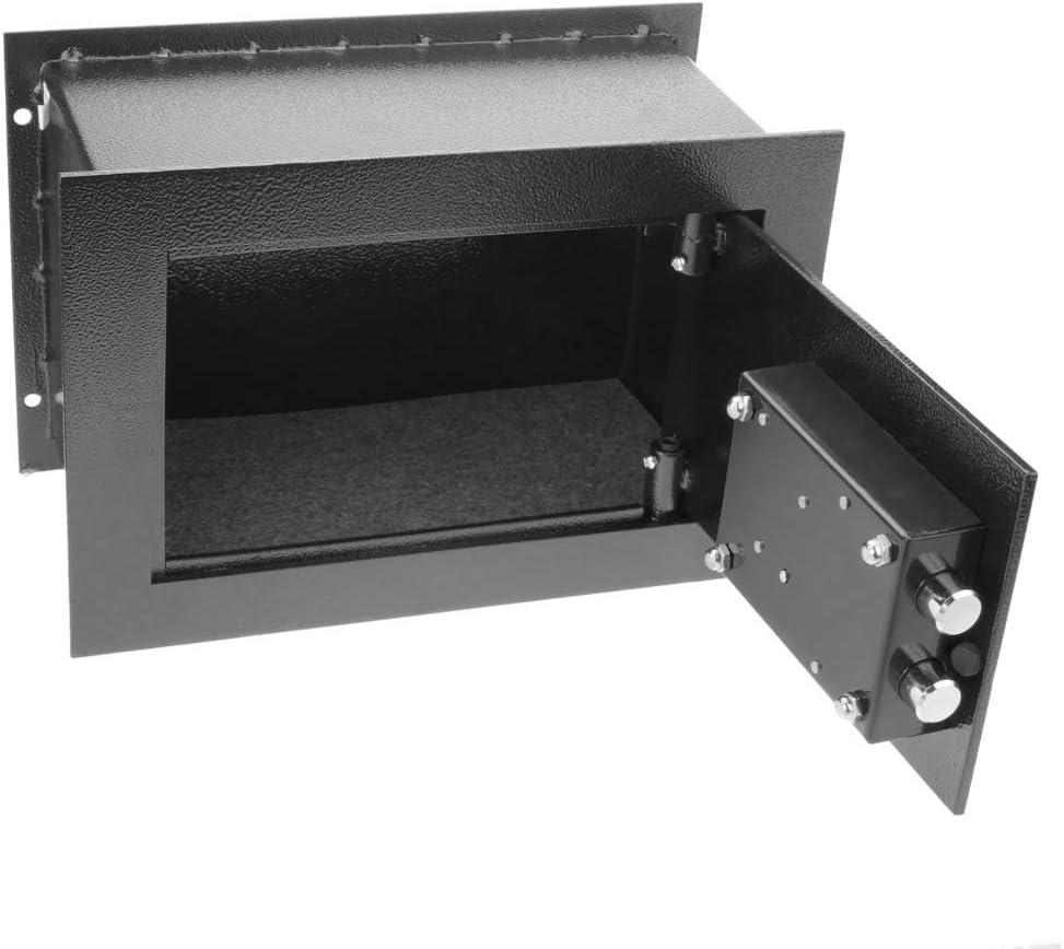PrimeMatik - Caja Fuerte de Seguridad empotrada de Acero con Llaves 26x15x18cm Negra: Amazon.es: Electrónica