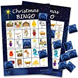 Religious Christmas Bingo Game - 24 Players