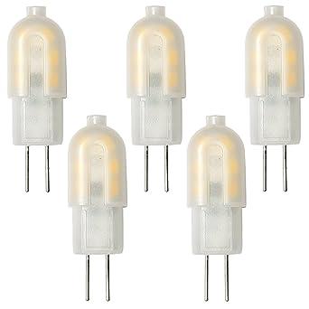 Conjunto de 5 - ZONE LED SET - G4-2W - Bombilla LED Cápsula - Luz Blanca Cálida (3000K) - 160 Lm - Equivalente incandescente 20W - Ángulo de haz ...