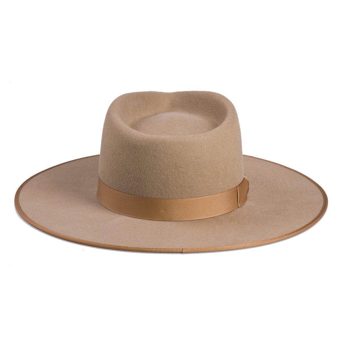 Lack of Color Women's Teak Rancher Wool Felt Fedora Light Brown MD (57cm) by Lack of Color (Image #2)