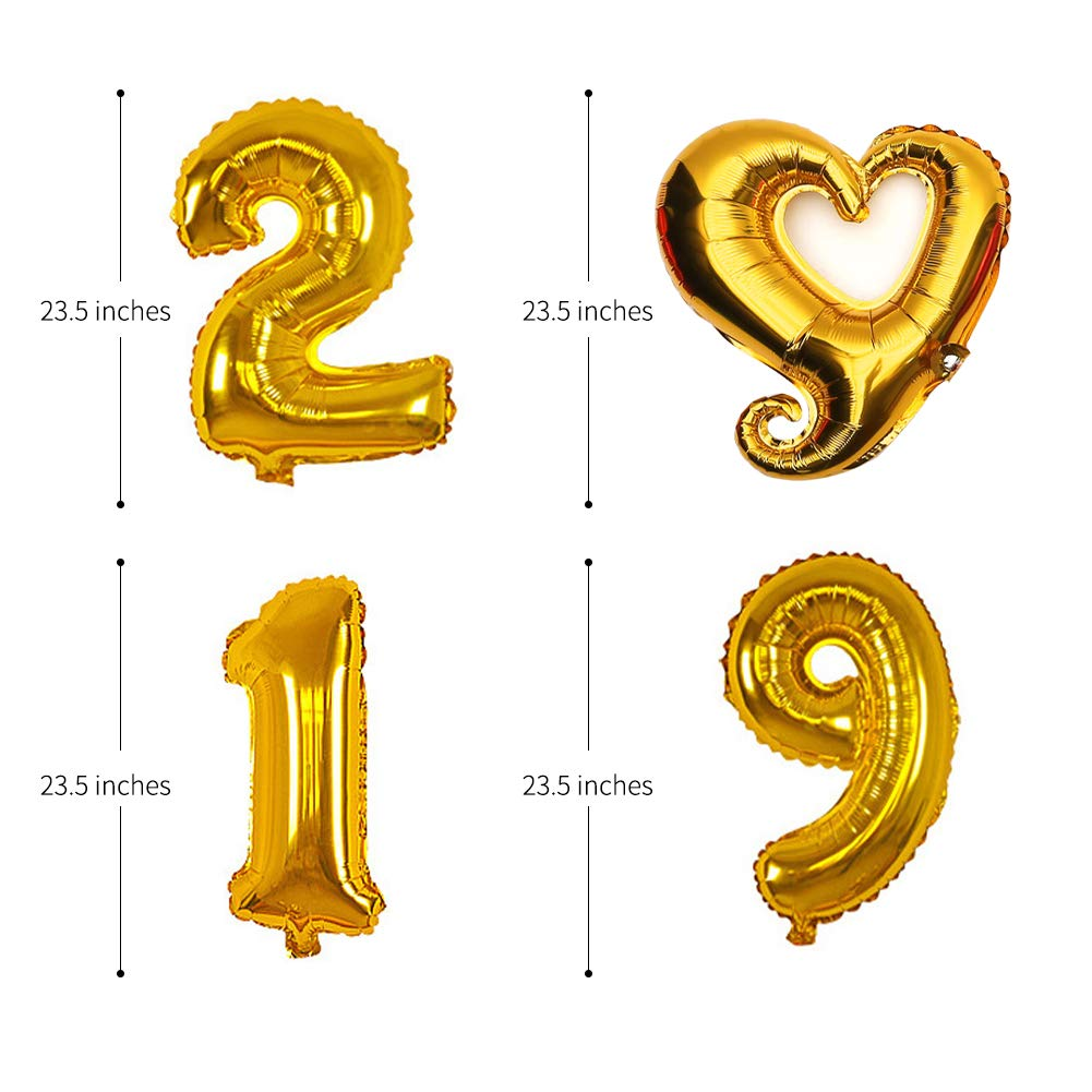a Congrats Class of 2019 Banner Perfect for Graduation Parties 2019 Graduation Party Decoration and 2019 Number Foil Balloons 30 Great Graduation Theme Balloons